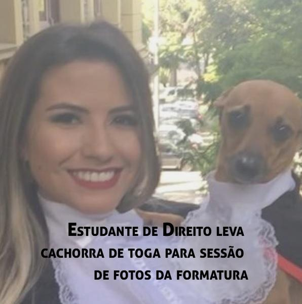 bffa7f18bc Estudante de Direito leva cachorra de toga para sessão de fotos da formatura  - Blog Exame de Ordem - Concurso Público, Concurso Jurídico, OAB,Exame de  Ordem ...