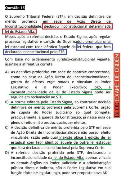XXVII Exame de Ordem - Recurso para erro material da lei do Estado Alfa