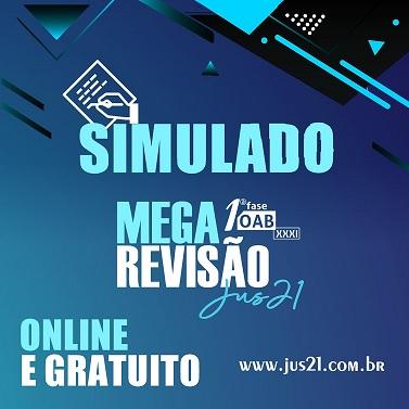 Na sexta teremos o 1º simulado da MEGA Revisão!