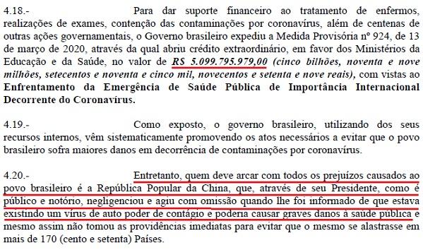 Brasileiro processa governo chinês e pede indenização de R$5 milhões