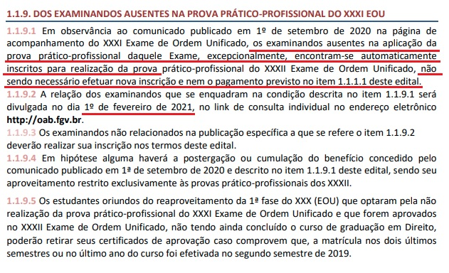 Publicado o edital da repescagem do XXXII Exame de Ordem