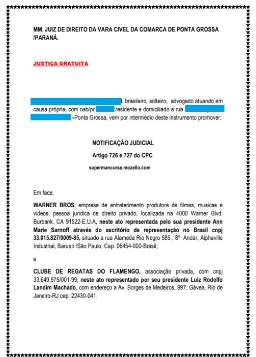 "Justiça nega pedido de advogado para ser o ""Superman brasileiro"""