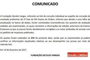 FGV confirma lista de aprovados