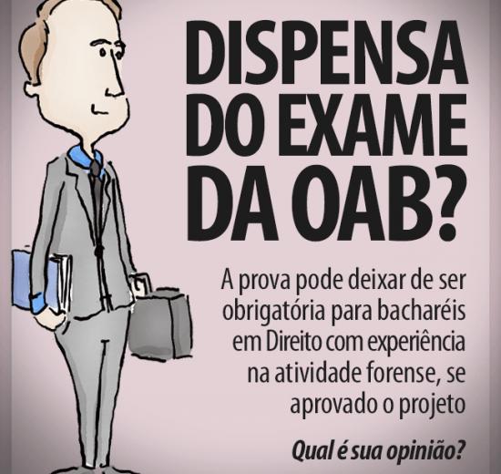 Proposta dispensa bacharéis em Direito do Exame da OAB