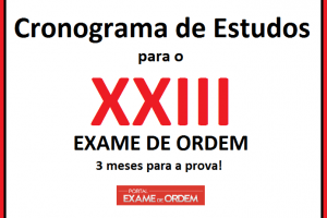 Cronograma de estudos para o XXIII Exame de Ordem