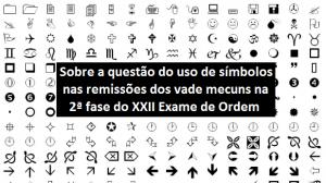 Sobre a questão do uso de símbolos nas remissões dos vades
