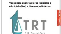 Vem aí o concurso do TRT 1ª Região