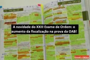 aumento da fiscalização na prova da OAB