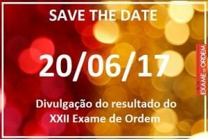 Calendário do XXII Exame de Ordem
