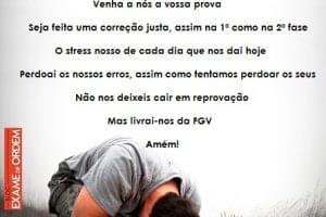 A Oração dos Examinandos