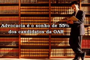 Advocacia é o sonho de 55% dos candidatos da OAB