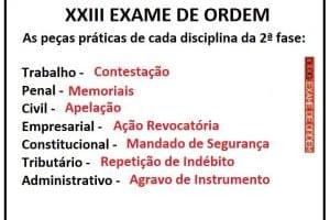 As peças práticas do XXIII Exame de Ordem