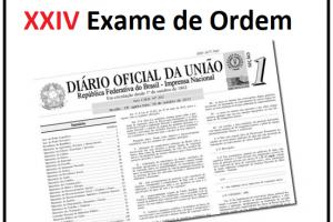 leis permitidas no XXIV Exame de Ordem
