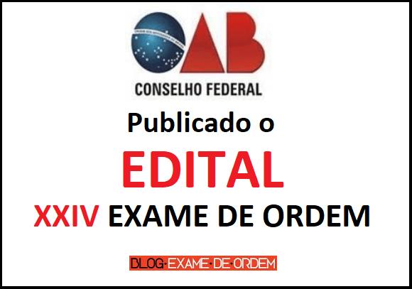 Publicado edital XXIV Exame de Ordem