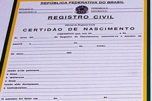regras para registro de nascimento