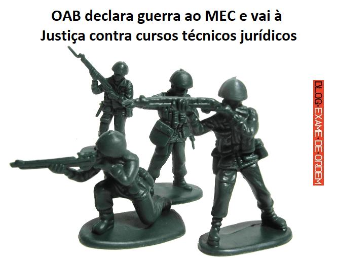 OAB declara guerra ao MEC