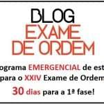 Cronograma Emergencial de Estudos para o XXIV Exame de Ordem