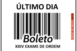 pagamento da inscrição no XXIV Exame de Ordem