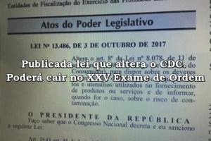 Publicada lei que altera o CDC