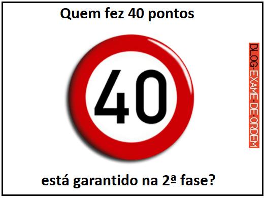 40 pontos