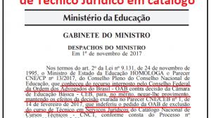 MEC ignora OAB e mantém cursos de Técnico Jurídico
