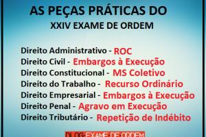As peças práticas do XXIV Exame de Ordem