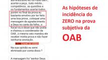 As hipóteses de incidência do zero na prova subjetiva da OAB