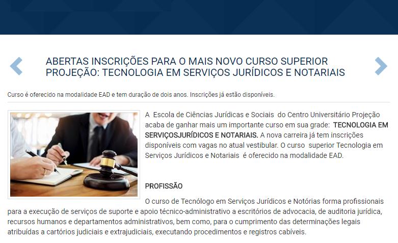 cursos de Tecnólogos Jurídicos