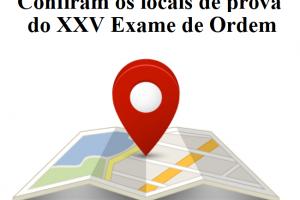 Confiram os locais de prova do XXV Exame de Ordem