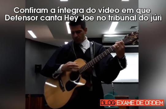 Defensor toca música do O Rappa na tentativa de comover júri de assassino