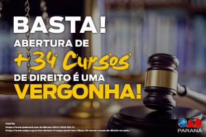 """OAB/PR reage ao MEC após abertura de 34 novos cursos de Direito: """"decisão irresponsável"""""""